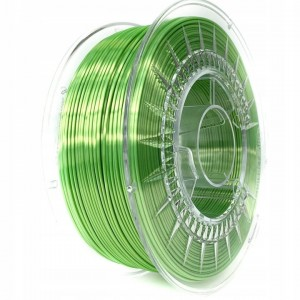 Filament Devil Design PLA SILK Bright Green / Jasnozielony 1,75 mm 1 kg